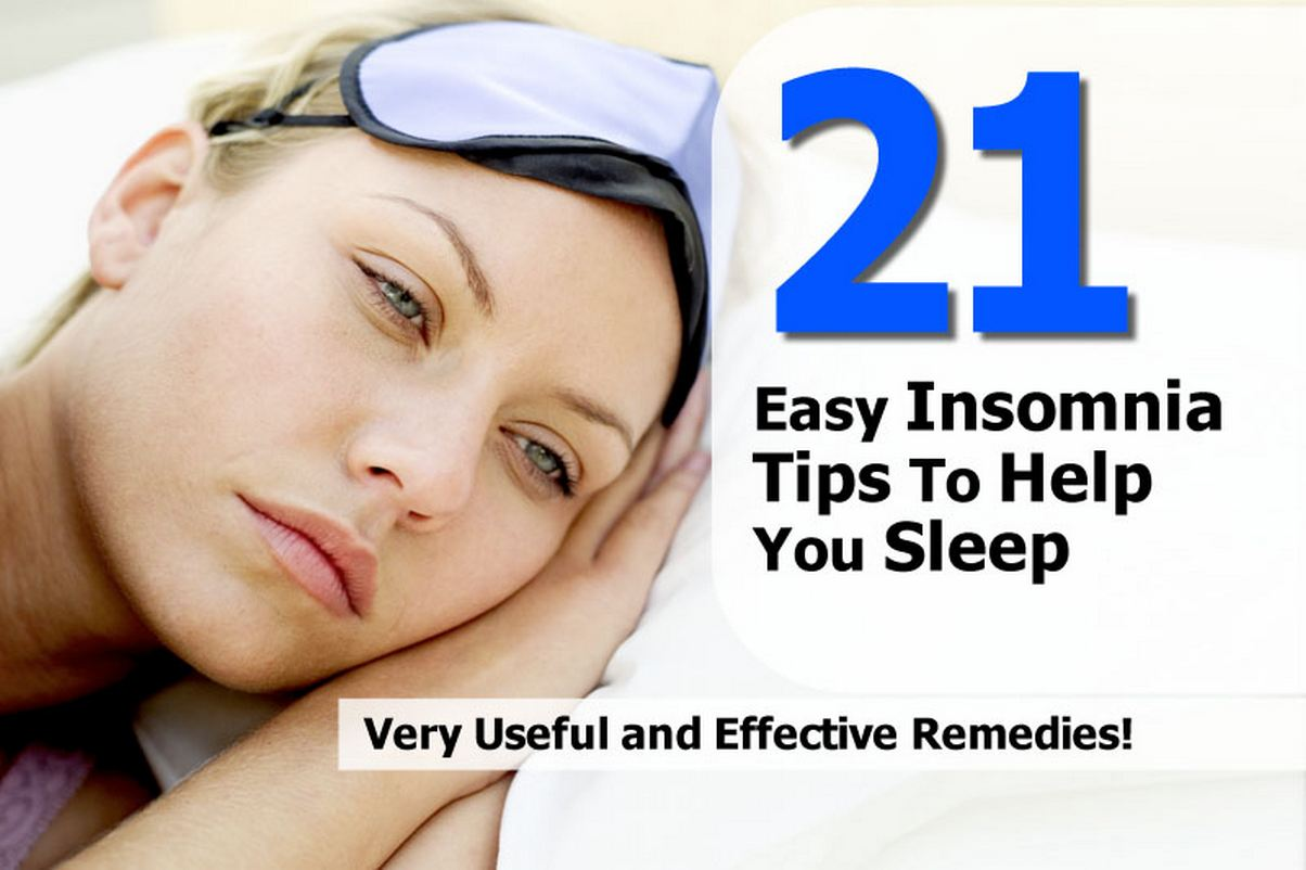 21 Easy Insomnia Tips To Help You Sleep