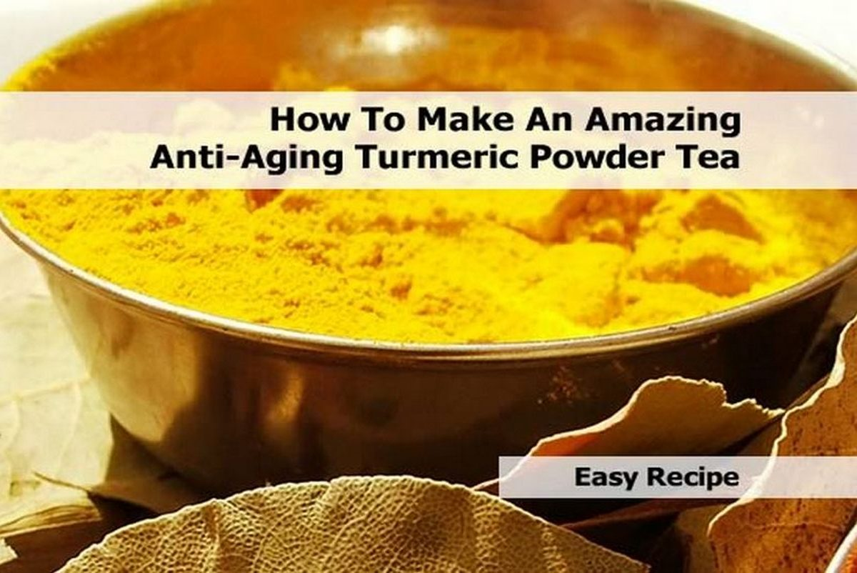 How To Make An Amazing Anti-Aging Turmeric Powder Tea