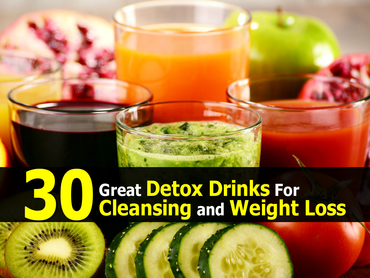 30 great detox drinks for cleansing and weight loss for Cocktail detox