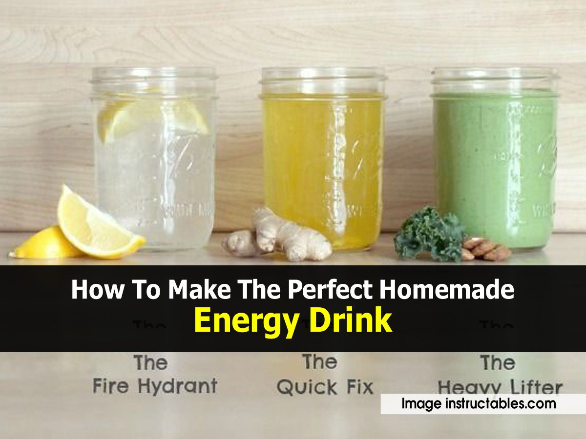 How To Make Your Own Energy Drinks At Home