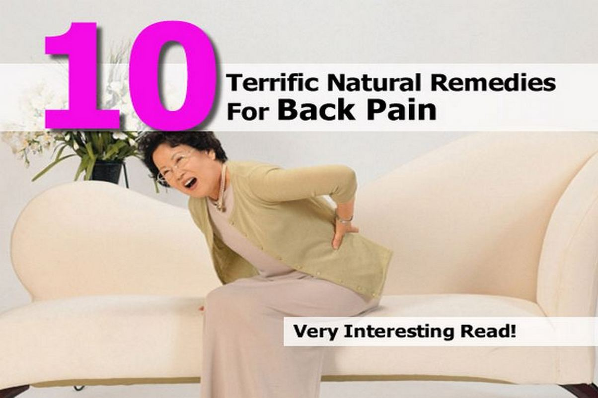 10 Terrific Natural Remedies For Back Pain