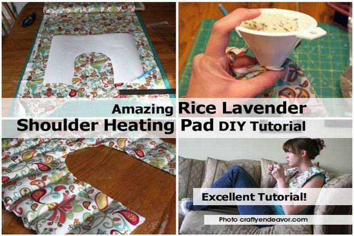 Amazing Rice Lavender Shoulder Heating Pad DIY Tutorial